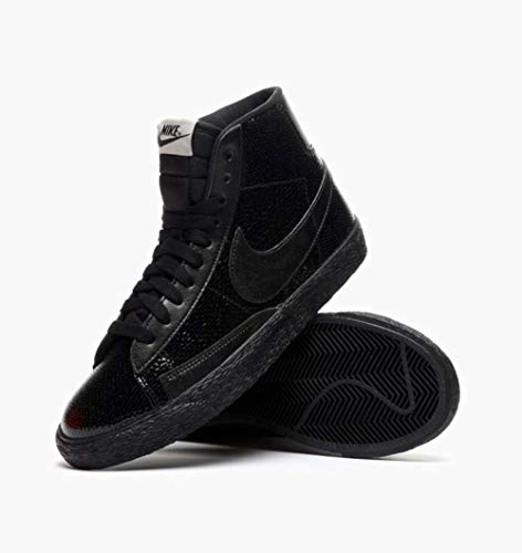 Blazers Nike Gold (NIKE Kids Boys W Blazer Mid LTR PRM Hight Top Lace Up, Black, Size 5 Us Big Kids)