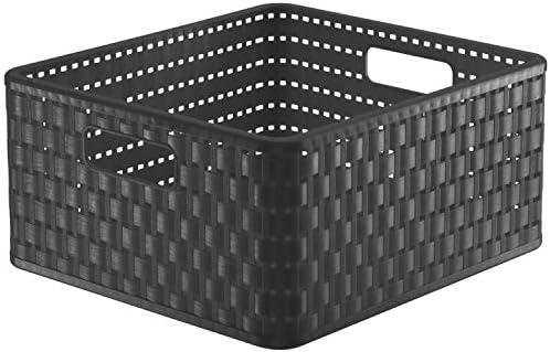 Rotho Country Aufbewahrungsbox 14l, Kunststoff (PP) BPA-frei, anthrazit, 14 Liter (32.8 x 30 x 16 cm)