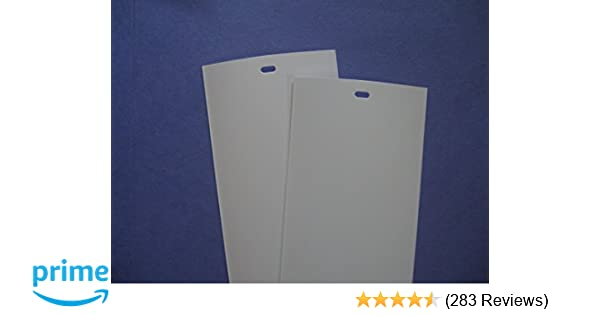 PVC Vertical Blind Replacement Slat (White) 2 Pk 82 1/2 X 3 1/2 by Royal  Window Coverings
