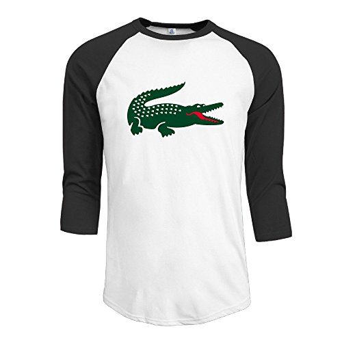 Price comparison product image JUN Men's 3 / 4 Sleeve Basketball Hungry Crocodile T-Shirt Black S