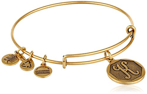 "Alex and Ani Rafaelian Gold-Tone Initial ""K"" Expandable Wire Bangle Bracelet, 2.5"" from Alex and Ani"