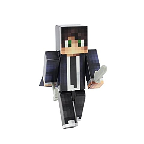 Cool Singaporean Guy Action Figure Toy, 4 Inch Custom Series Figurines by EnderToys (Mini Mine Craft Characters)