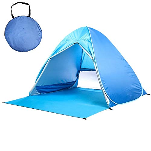 Beauty Star Automatic Pop Up Beach Tent Portable Outdoor UV 50+ Protection Beach Shade Camping Tent Kids Beach Tent for Outdoor Activities and Beach Traveling (for 2-3 Person) by Beauty Star