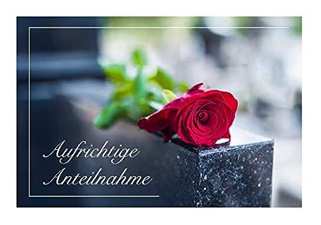 Merz Designkarten 6 Stück Einfühlsame Premium Trauerkarten
