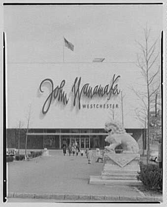 Photo: Cross County Shopping Center. John Wanamaker's - Cross Ny County