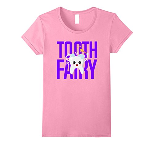 Children's Tooth Fairy Costume (Womens Tooth Fairy Shirts for Kids Men and Women Large Pink)
