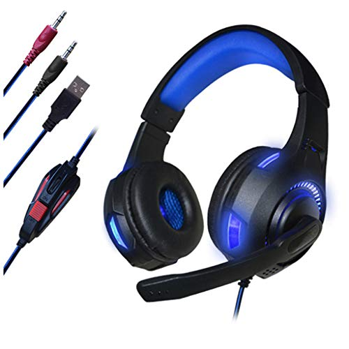 Price comparison product image Jonerytime3.5mm Gaming Headset Stereo Bass MIC LED Headphones for PC Laptop for PS4 Slim