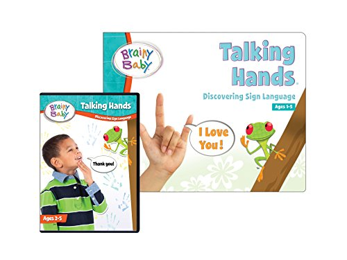 Brainy Baby Talking Hands Book and DVD Set Discovering Sign Language Deluxe Edition (Kids Language Dvd Sign)