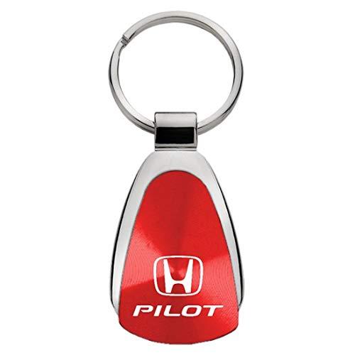Honda Brown Leather Key Fob Authentic Logo Key Chain Key Ring Keychain Lanyard