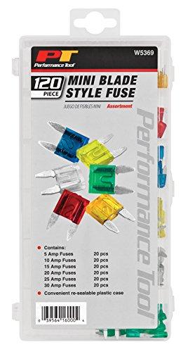 Performance Tool W5369 Performance Tool Mini Fuse Assortment - 120 ()