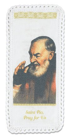 - Saint Padre Pio Cloth Bookmark with Holy Prayer Card
