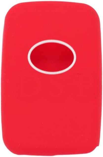 SEGADEN Silicone Cover Protector Case Skin Jacket fit for TOYOTA 3 Button Smart Remote Key Fob CV2404 Pink