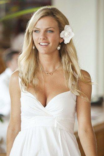 Busty white dress