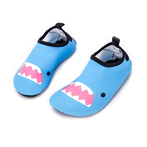Himal Kids Water Shoes Boys Girls Toddlers Water Shoes Water Proof Socks Beach Shoes For Beach Sporting Swimming (Blue-Shark) 6.5-8 M US Toddler