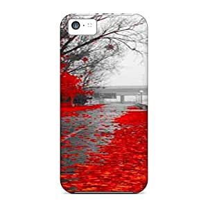 Top Quality Rugged Wet Red Autumn Case Cover For Iphone 5c