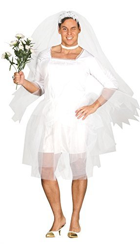 Adults Mens Comedy Bridezilla Groom Funny Group Stag Do Night Party Novelty Fun Fancy Dress Costume Outfit -
