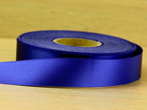 Minerva Crafts 24mm Budget Acetate Satin Ribbon Deep Royal Blue - per 50 metre roll