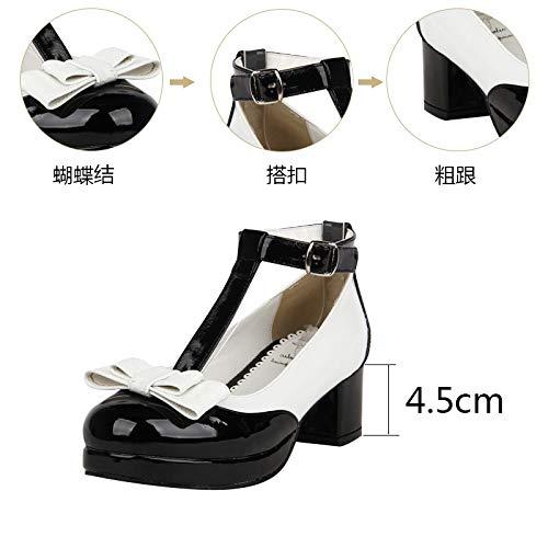 Zapatos Sueltos Mujer Princesa Lolita Pingxiannv Vestir De 1dxqZBwOB