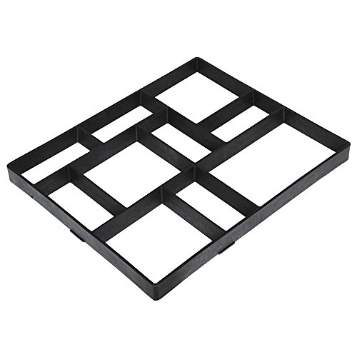 Cheap  go2buy 10 Grid Rectangular Concrete Mold Stepping Stone Paver Walk Maker Path..