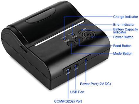 Excelvan inalámbrico Bluetooth Impresora Térmica portátil Dot ...