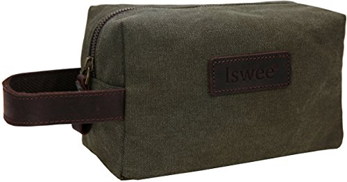 bcf21d821afa Iswee Men Travel Toiletry Bag Canvas Cosmetic Makeup Organizer ...