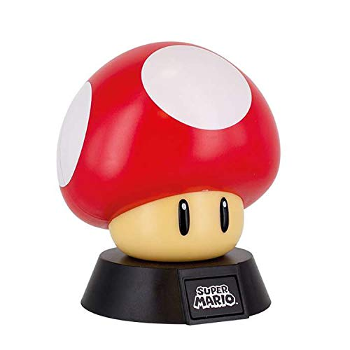 - Paladone Super Mario Bros. Mushroom 3D Night Light - Decorative Lamp Collectible