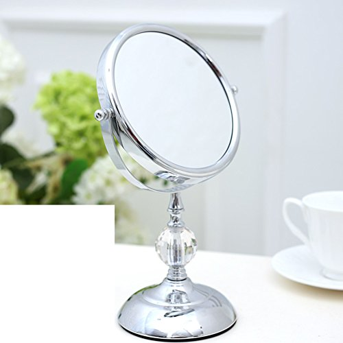 - MYITIAN 6Inch Upgrade Crystal Ball Mirror Tabletop Makeup Mirror Two-Sided Dressing Mirror The Princess Portable Mirror 3[Times Magnifying Mirror]-A