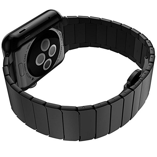 Apple Watch Band, Clebsch Stainless Steel Replacement Smart Watch Band Wrist Strap Bracelet with Butterfly Buckle Clasp for Apple Watch All Models by Clebsch (Image #3)