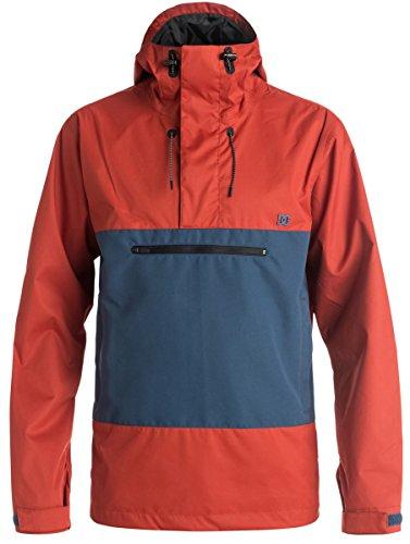 Dc Red Sweatshirt (DC Dcsaa Men's Rampart 10k Water Proof Hoodie Pullover Snowboard Sweatshirt, Ketchup Red, Small)