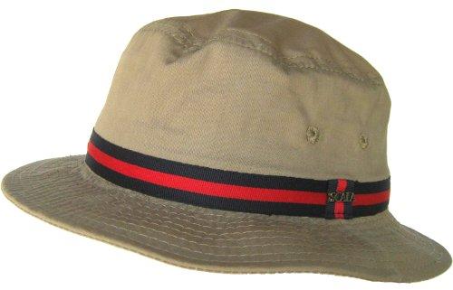 Dorfman Pacific Large British Tan Bucket Hat