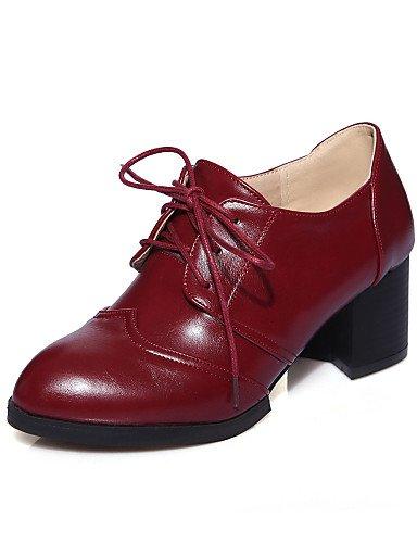 Eu39 Zapatos Casual Black Exterior De Semicuero Tacón Eu36 Cn36 Njx Negro Yellow Rojo us8 Amarillo Hug Uk6 Cn39 Mujer Tacones Uk4 us6 Robusto 45xZq