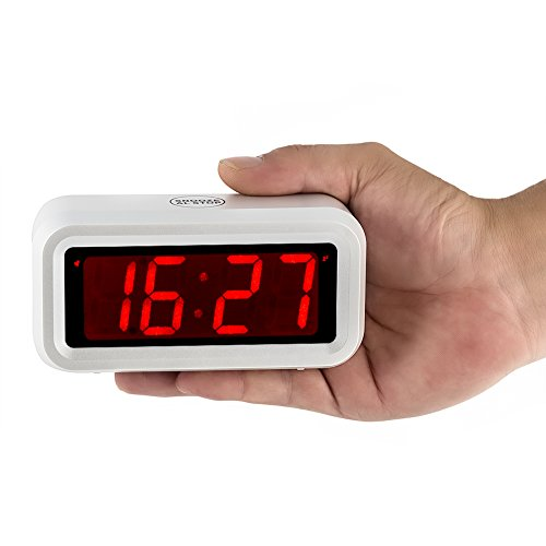 kwanwa energy efficient small digital led alarm clock white home or portable design battery. Black Bedroom Furniture Sets. Home Design Ideas