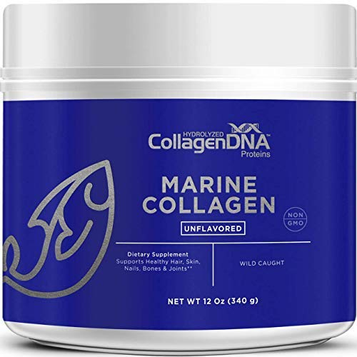 Premium Collagen Peptides from Wild-Caught Snapper | 12 oz Paleo Friendly, Non-GMO and Gluten Free - Unflavored and Easy to Mix Collagen Powder (Marine 12-oz)