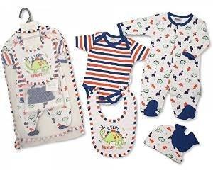 Marca New Baby Boys 5piece Set de regalo para niño chaleco, babero ...
