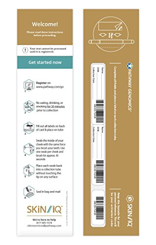 Pathway Genomics SKiN iQ™ | At-Home Genetic and DNA Test Kit for Your Skin | Enable Proactive Skin Care | Includes Personal Genetic Skin Profile | Analyze 7 Categories of Skin Health by iQ Products (Image #2)