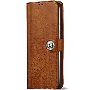 TheGiftKart Genuine Leather Finish Button Flip Cover Back Case with Inbuilt Stand & Inside Pockets for Samsung Galaxy…