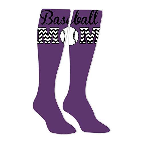 Baseball Mom Unisex Tube High Knee Thigh Stockings Athletic Sport Long Socks