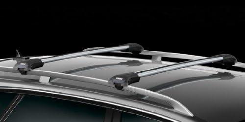 Small // Medium Thule WingBar Edge Premium Roof Rack Set 9594 Silver