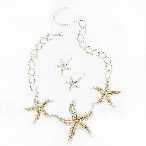 [Shimmering Starfish Jewelry Set] (Costumes Jewelry Prices)
