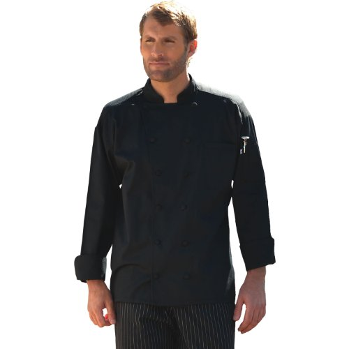 Uncommon Threads Barbados Chef Coat in Black - XX-Large