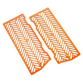 Ktm Radiator Guards (7602 Racing Radiator Guards Anodized Orange for KTM 530 XC-W 2008-2011)