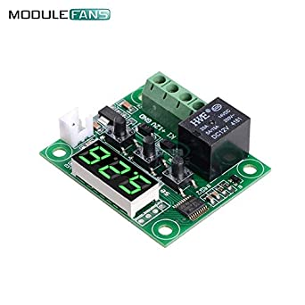 W1209 DC 12V Green LED Digital Thermostat Temperature Control Thermometer Controller Switch Module Waterproof NTC Sensor