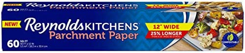 Kitchens Parchment Paper (12 inch, Non-Stick, 60 Square Foot Roll)