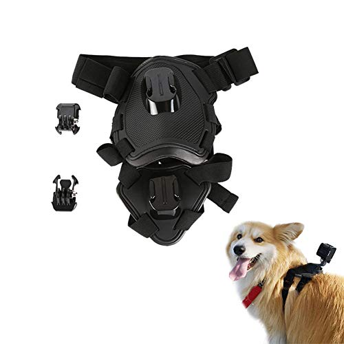 Dog Harness Mount, DEXING Pet Chest Strap Mount with Elastic Straps, Soft-Padded, 2 mounting Location. Washable Durable Mount for Insta360 ONE X/EVO/Gopro and More