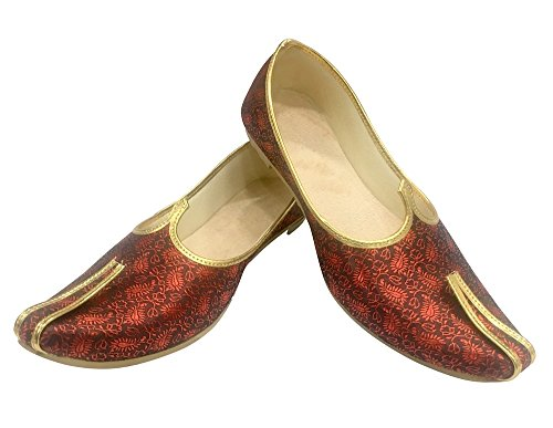 Étape N Style Hommes Mehroon Sherwani Jutti Chaussures De Mariage Chaussures Indiennes Chaussures Ethniques Mojari Juti