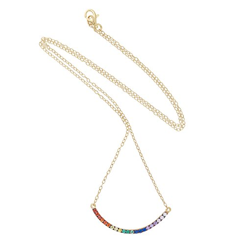 IAM by Ileana Makri Collier Acier Inoxydable Ronde Zircon cubique Multicolore Femme 60cm