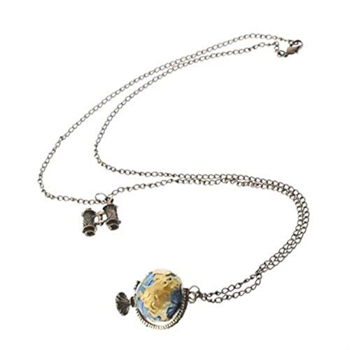 BIN BON - 2015 Hot Pendant Globe Telescope Style Chain Charm Ornate Coat Sweater Vintage Necklace ()