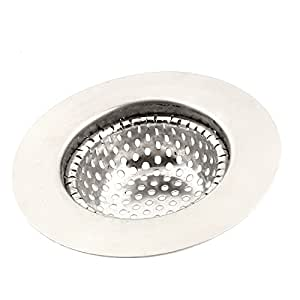 uxcell Home Kitchen Sink Basin Waste Filter Strainer 7cm Dia Silver Tone