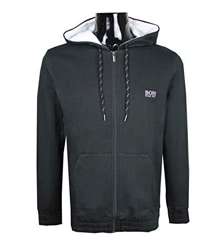 6c8473350f06 Hugo Boss Stretch Cotton Hoodie Contemp Jacket Black 50381410 (Small)