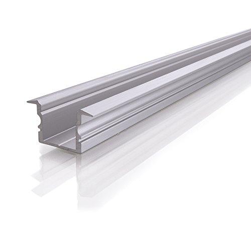Reprofil ET-02-12 Höhes T-Profil für 12-13,3 mm LED Stripes, gebürstet, 2000 mm, silber 975147